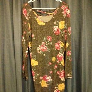 Long sleeve NOBO flower dress.